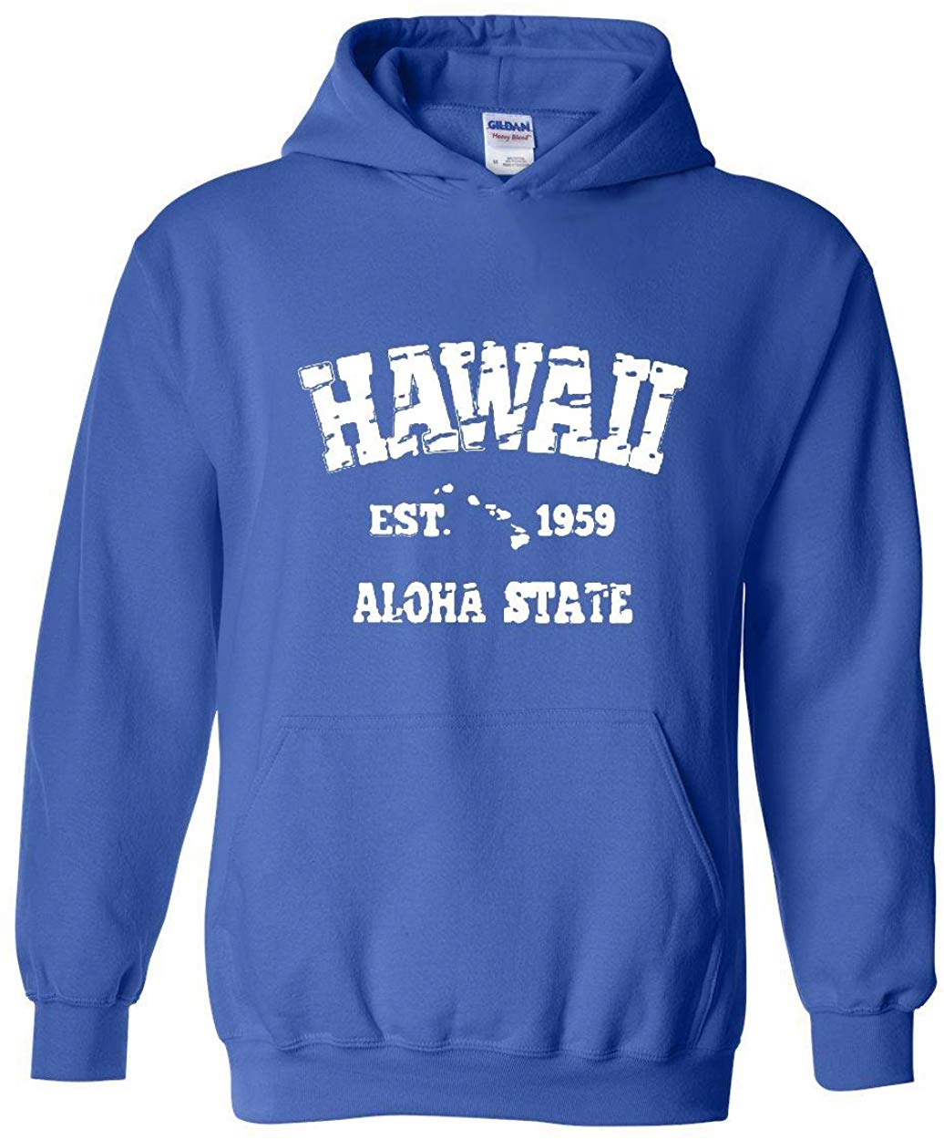 Hawaii Hoodie Hawaiian Islands 1959 Places To Travel In Aloha State Hi Honolulu Kauai Maui OAHU Unisex Hoodies Sweaterunisex image