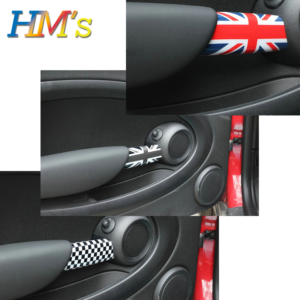 For MINI Cooper R55 R56 R57 R58 Interior Door Handle Decals For MINI Clubman R55 Accessories Car Styling For MINI R56 Sticker
