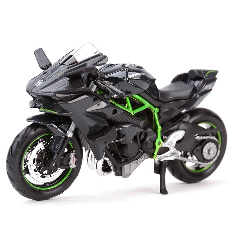 Maisto 1:18 Kawasaki H2 R Ninja ZX-10R 12R 14R 9R Vulcan Z1000 KX 250F Diecast Alloy Motorcycle Model Toy