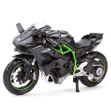 Maisto 1:18 Kawasaki H2 R Ninja ZX-10R 12R 14R 9R Vulcan Z1000 KX 250F Diecast Alloy Motorcycle Model Toy for kawasaki z1000 ninja 1000 z800 e version z900 z650 z750 z1000sx zx6r 656 eversys 650 1000 cnc adjustable brake clutch lever