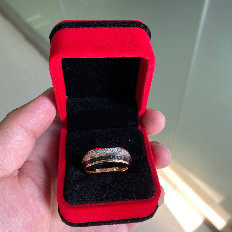 Tungsten Wedding Ring's Boxes 4 Colours Engagement box Along with Rings to selling 2