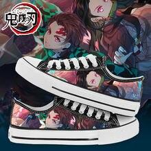 Whoholl/Мужская парусиновая обувь; kimetsu no yaiba demon slayer;