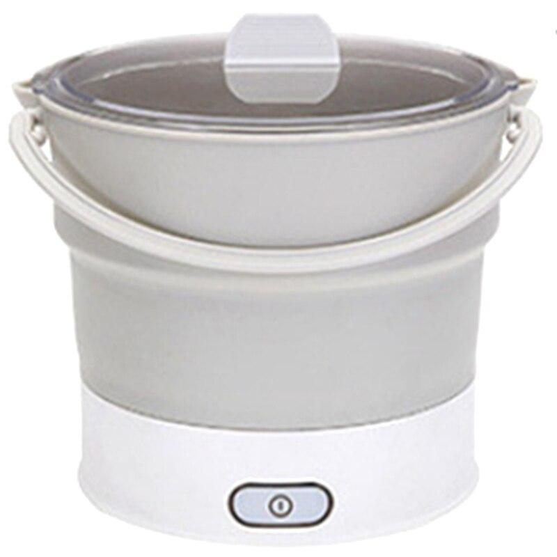 Складная электрическая сковорода, чайник с подогревом, контейнер для еды с подогревом, Ланч бокс, портативная плита, горячий чайник для приготовления чая, вилка стандарта США