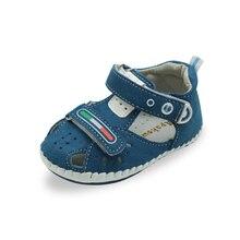 Apakowa Newborn PU Shoes Infants Boy Handmade Stitch Pu
