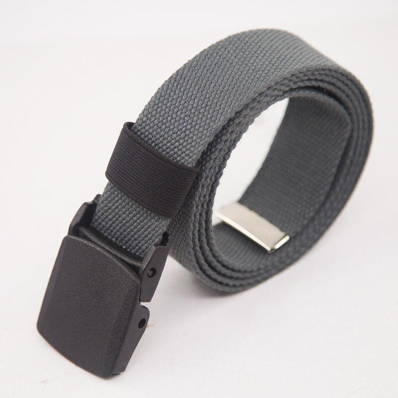 Холщовый ремень для мужчин женщин поясной ремень Мода пластик Пряжка повседневное Ковбой Черный мужской ремень cinturones para mujer для Жан - Цвет: Grey