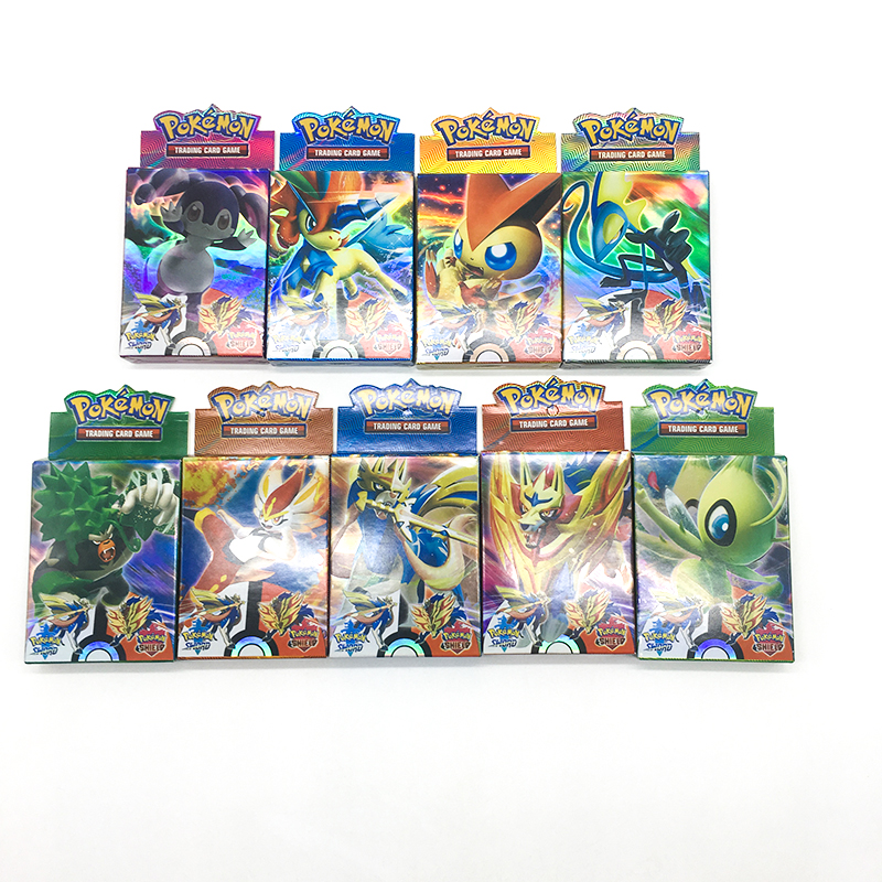 new-font-b-pokemon-b-font-trading-card-game-sword-shield-collection-shining-box-gx-flash-cards-energy-trainer-tag-team-25pcs-toys-for-children