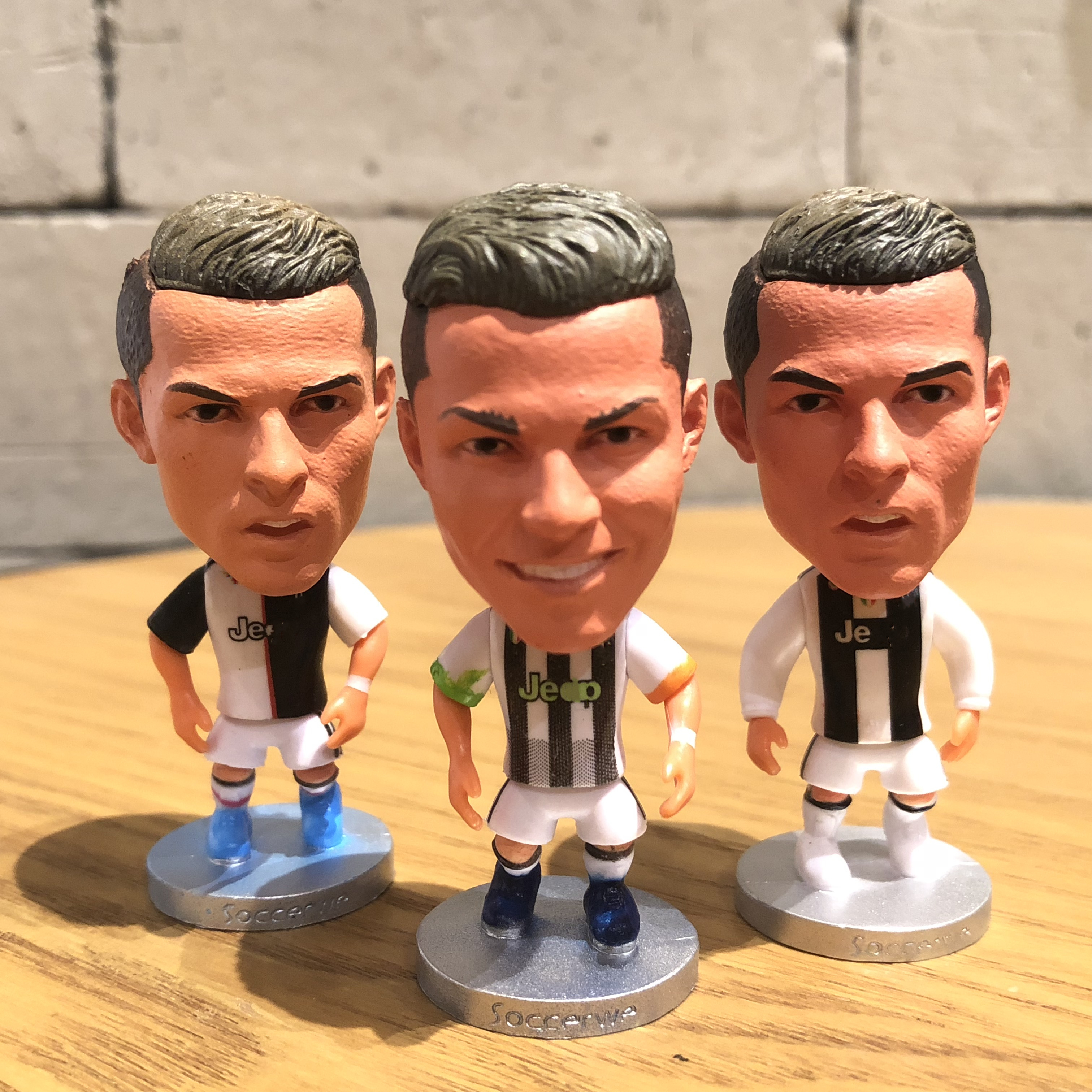 1 Piece Football Star Ronaldo 2020 Resin Doll Action Figure 6.5 Cm Mini Toy Collectible Gift