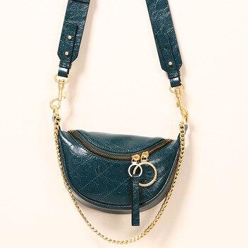 2020 Fashion purse Waist bags Designer women chest bag fanny pack for women Real Leather shoulder bag Waist Pack female Belt Bag