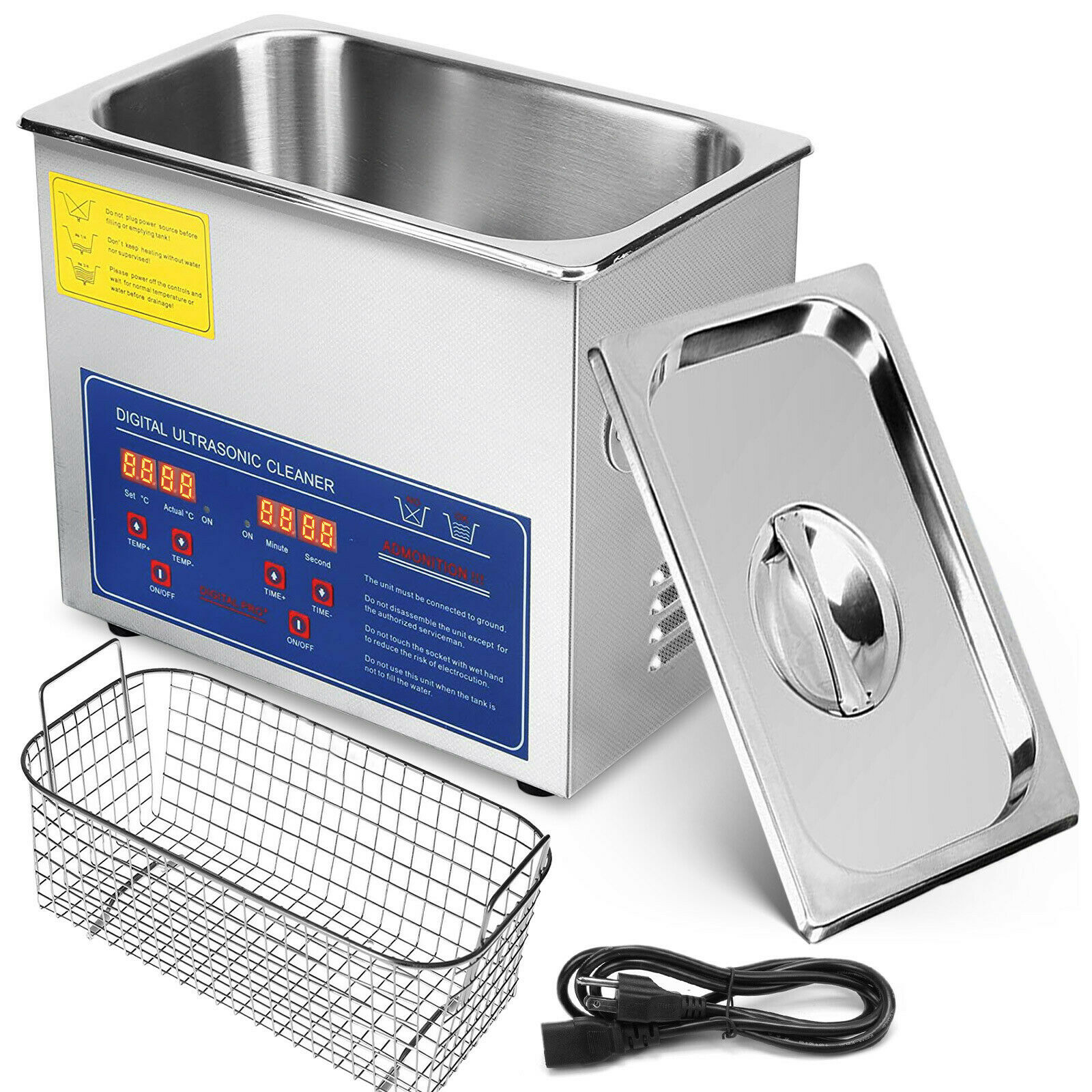 3L nettoyeur à ultrasons réchauffeur minuterie réservoir bain Machine de nettoyage industrie équipement en acier inoxydable