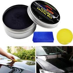 Car Wax Crystal Plating Set Hard Glossy Carnauba Wax Paint Care Coating Tiny Scratch Repair Maintenance With Sponge And Towel