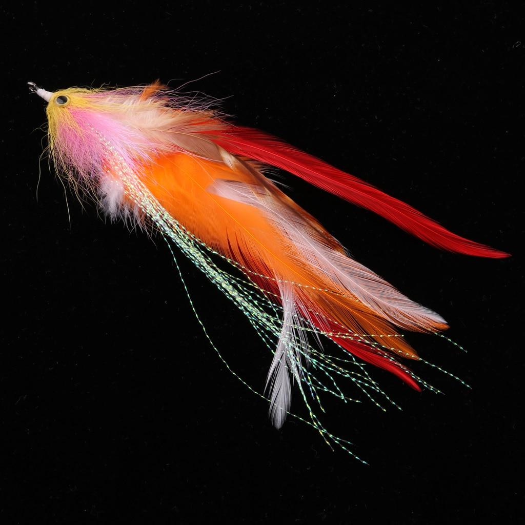 """Truta steelhead salmão pique streamer voar para a pesca com mosca flie 14cm / 5.5"""""""