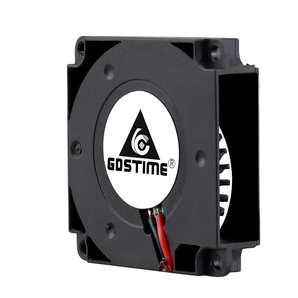 2PCS Gdstime 40mm 3D Printer Fan 12V 24V 5V 4010 Blower Printer Cooling Accessories  DC Turbo Blower Fan Radial Fans 40x40x10mm 2