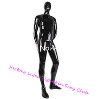 Latex Rubber Bodysuits with Hoods Mask&Socks Latex Rubber Full Bodysuits Back Zip Sexy Costume zentai exotic apparel