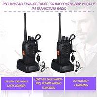 2pcs baofeng bf 888s 2pcs Baofeng BF-888S UHF 400-470 מגהרץ 2-Way רדיו תינניות 16CH מכשיר הקשר עם מיקרופון FM משדר DC Power (3)