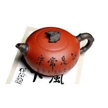 Китайский Исин чайная посуда, чайные горшки, настоящий Исин Чайный горшок, известный чайник ручной работы, минный фиолетовый грязевой чайный набор 370 мл