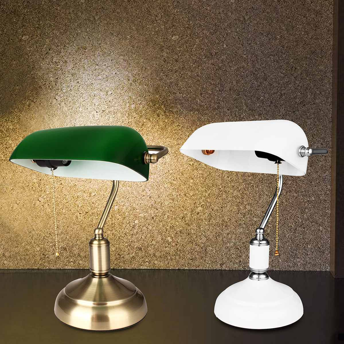 Green Bankers Table Office Desk Lamp