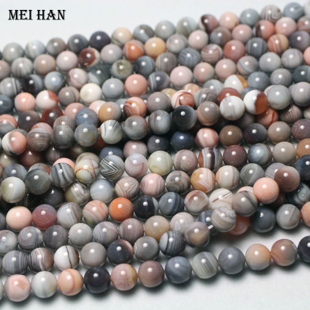Pcs Gemstones Jewellery Making Bamboo Leaf Jasper Round Beads 8mm Grey//Mixed 40