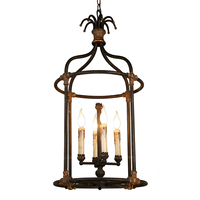 French black chandelier cage lighting vintage hanging lustres in kitchen hallway warehouse drop chandelier balcony shopping mall