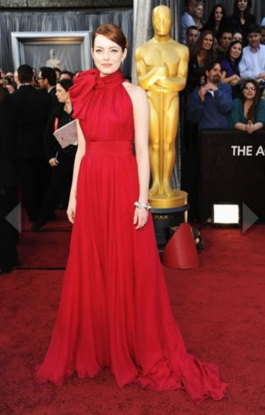 Free Shipping 2018 Oscars Emma Stone Red Carpet Evening Pageant Gown Custom Robe De Soiree Mother Of The Bride Dresses