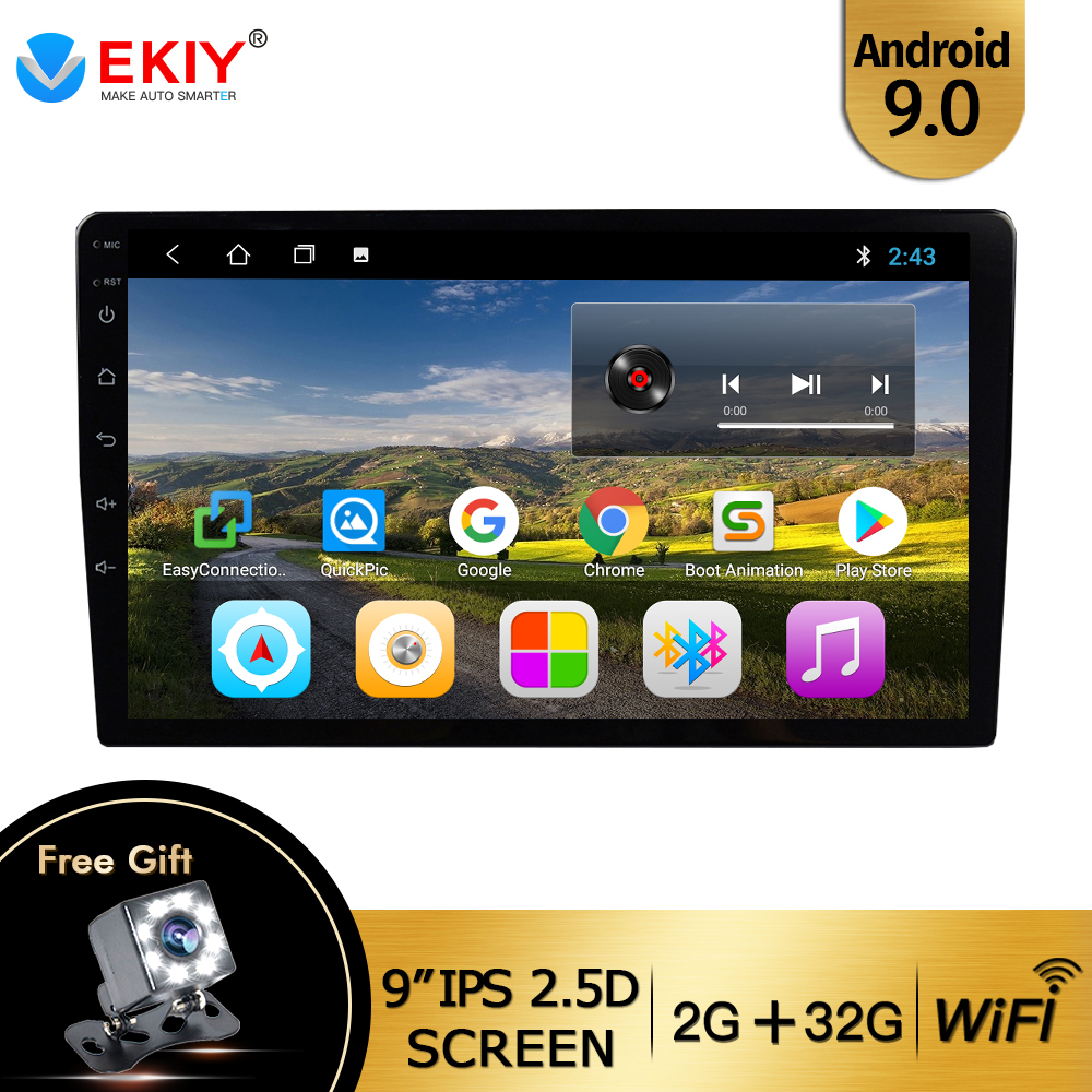 EKIY 9'' /<font><b>10.1</b></font>'' IPS <font><b>Android</b></font> 9.0 <font><b>Universal</b></font> 2 Din Car <font><b>radio</b></font> GPS Navi Ca Multimedia Player Wifi Auto Stereo Audio Video DVD Player image