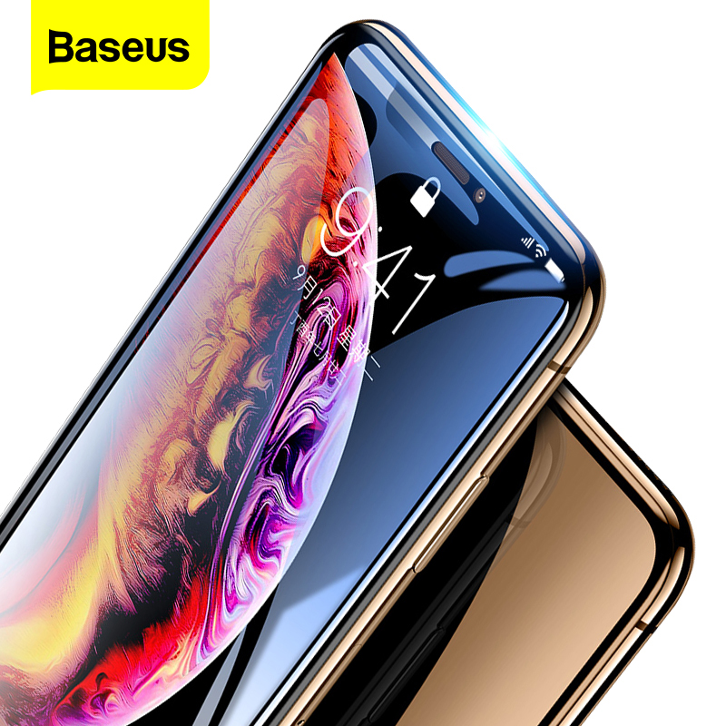 Baseus 0.3mm Screen Protector For IPhone Xs Max X S Xr Tempered Glass 3D Full Cover Protective Glass For IPhone Xsmax Protection