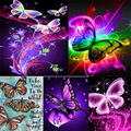 red butterfly DIY 5D diamond painting butterfly stone diamond embroidery red butterfly full rhinestones mosaic painting diamonds