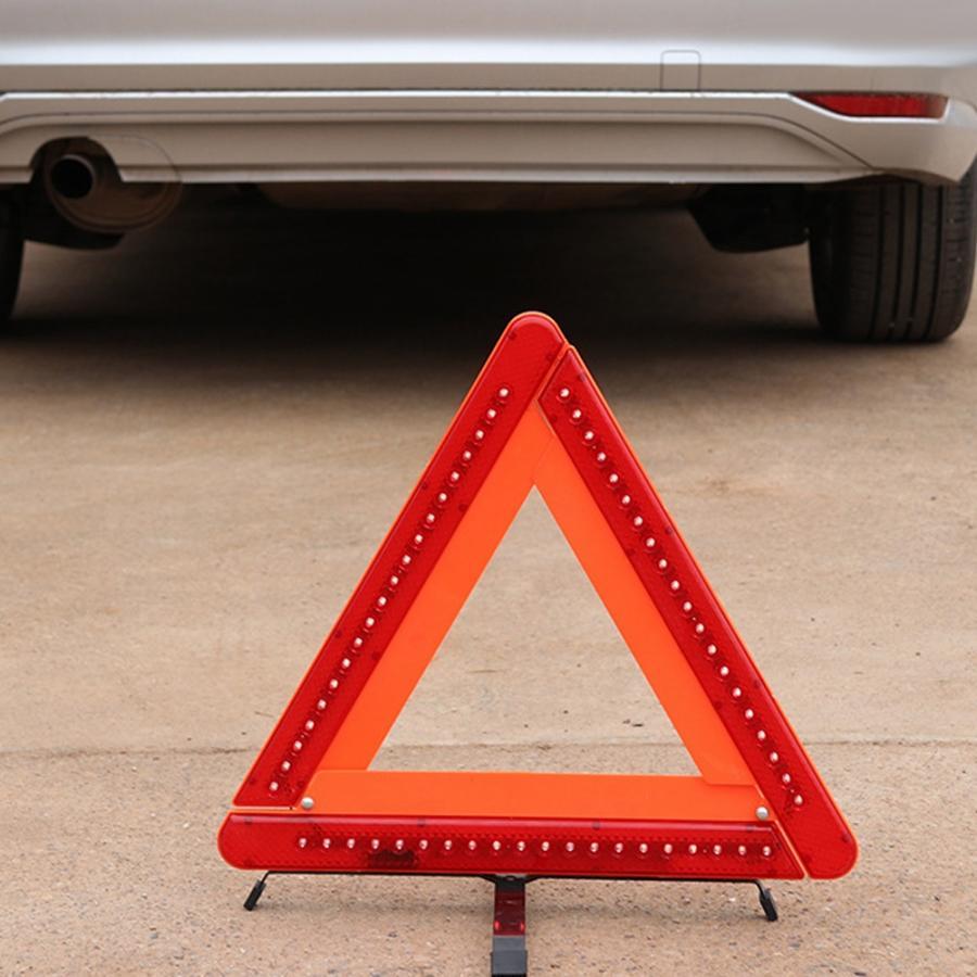 Автомобильный светодиодный треугольный отражающий предупреждающий светильник знак аварийной безопасности автомобильные принадлежности треугольный Предупреждение ющий отражатель дорожный знак|Светофор|   | АлиЭкспресс