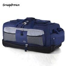 Легкий чемодан на колесиках большой емкости 30 дюймов дорожная сумка с колесиками Оксфорд холст складной багаж свет путешествия valise