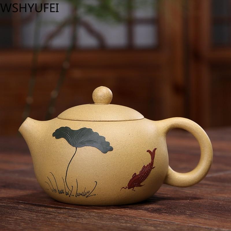 Yixing Tea Pot Purple Clay Xi Shi Teapot Ore Beauty Chinese Kettle 188 Ball Hole Purple Sand Custom High-end Gift 200ml