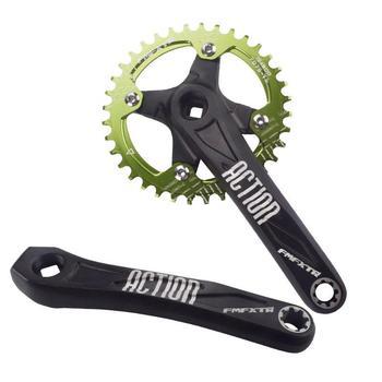 цена на 170mm Bicycle Crank On For MTB Mountain Bike Crankset Square Hole Aluminum Alloy L/R Crank Single Plate Modification Part