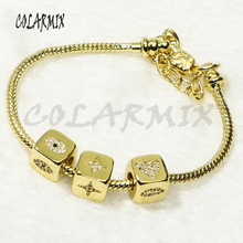 5 pcs Cubic beads bangle bracelets mix beads jewelry bangles charms accessories bangles bracelets jewel for women 50284