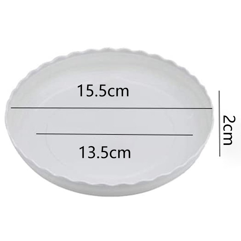 AYHF-30 Pcs Wave Plant Saucer Flower Pot Drip Trays/Durable Heavy Duty White Plant Tray for Indoor and Out Door Plant 6 Inch-5