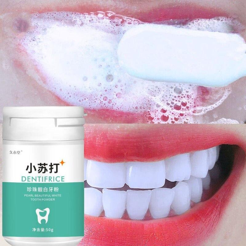 Blanchiment des dents 50 grammes, élimine les taches de fumée, de café, de thé, haleine fraîche, mauvaise haleine, hygiène bucca