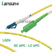 3mFiber Optic Patch Cable - Single Mode -SM G657A1-LSZH 3.0mm (1M, SC/APC to LC/uPC)   sc apc patch cable   fiber splicer цена
