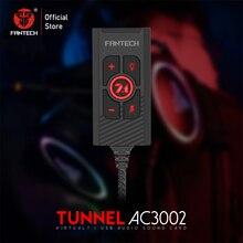 FANTECH tarjeta de sonido AC3002 7,1, controlador de Control de riesgo de volumen y micrófono, 7,1 funciones adicionales para auriculares para videojuegos
