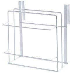 Podwójna warstwa żelaza szafki kuchenne półka deska do krojenia półki na regały magazynowe uchwyt kuchenny Rack bezpłatne wiercenie biały