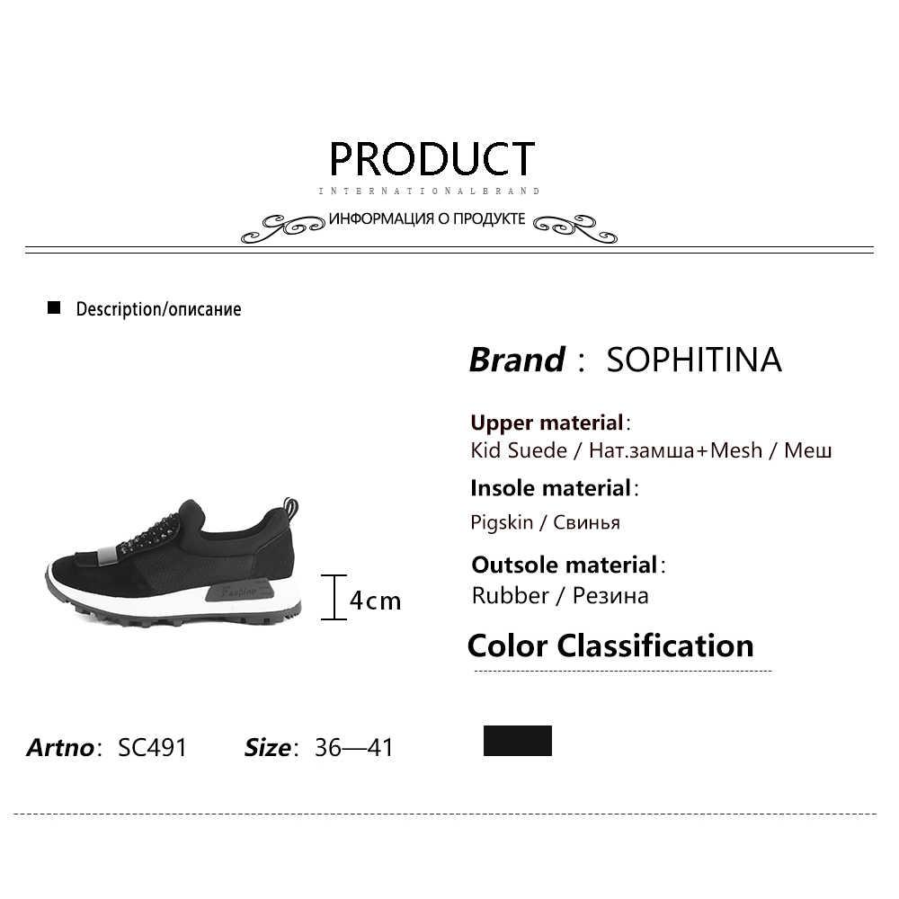 SOPHITINA rahat kama çizmeler yüksek kaliteli çocuk süet katı moda tasarım yuvarlak ayak rahat ayakkabılar yeni kadın botları SC491
