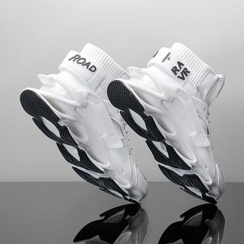 Męskie tenis luksusowe buty trener wyścig off białe buty modne mokasyny buty do biegania męskie trampki męskie męskie obuwie codzienne buty meskie tanie i dobre opinie yuzhy Mesh (air mesh) CN (pochodzenie) Przypadkowi buty RUBBER Lace-up Pasuje prawda na wymiar weź swój normalny rozmiar
