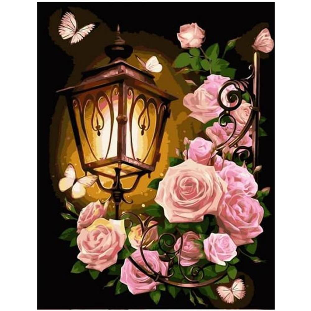Full diamond 5D diamond painting garden flower DIY diamond embroidery kit landscape mosaic home decoration gift