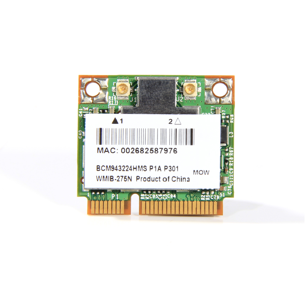 Wireless Adapter Card For BCM943224HMS BCM943224 802.11n Half Mini PCI-E Dual Band 2.4Ghz/5Ghz 300Mbps