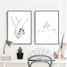 Nordic Black and White Posters And Prints Canvas Oil Painting Wall Art Pictures for Girls Living Room Nursery Cuadros Home Decor black white baby animal rabbit tail canvas art print and poster nursery bunny canvas painting for kids room nordic wall decor