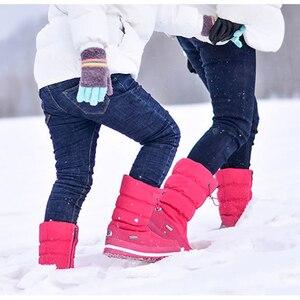 Image 5 - חדש 2020 נשים של מגפי פלטפורמת חורף נעלי קטיפה עבה החלקה עמיד למים שלג מגפי נשים botas mujer