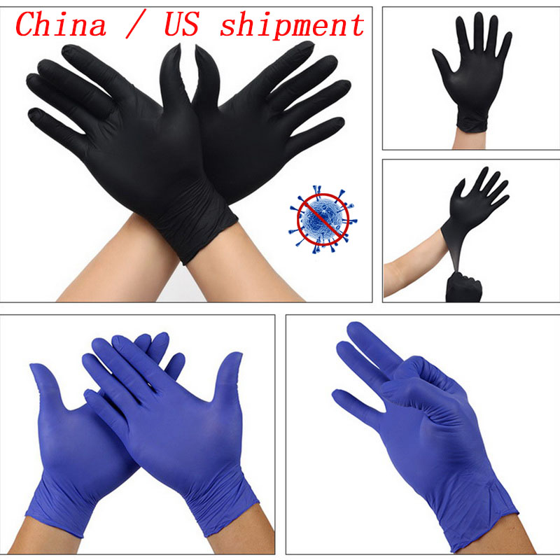 5 Colors 100pcs Disposable Gloves Latex Universal Kitchen/Dishwashing/Medical /Work/Rubber/Garden Gloves For Left And Right Hand