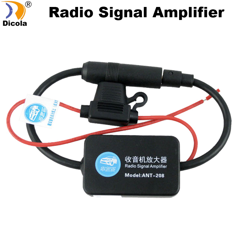 Free Shipping Car Radio/Car DVD GPS Player Antenna Signal Amp Amplifier Booster Radio Fits for All cars with Circular interface