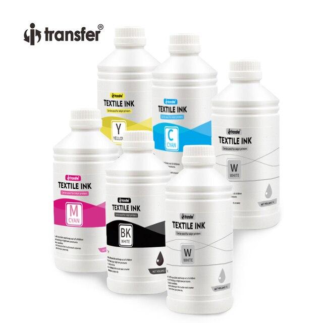 6 Litre DTF Textiles Pigment Ink CMYK Color  DTF Ink 1L White Ink for DTF Printer 1000ml T shirt Printing Inks 3