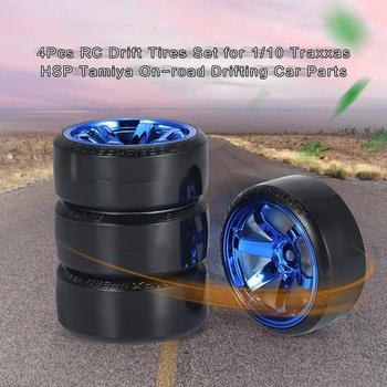 2020 4Pcs RC Drifting Car Tire Set Hard Plastic Tyre for Traxxas HSP Tamiya HPI On-road Vehicle Toys