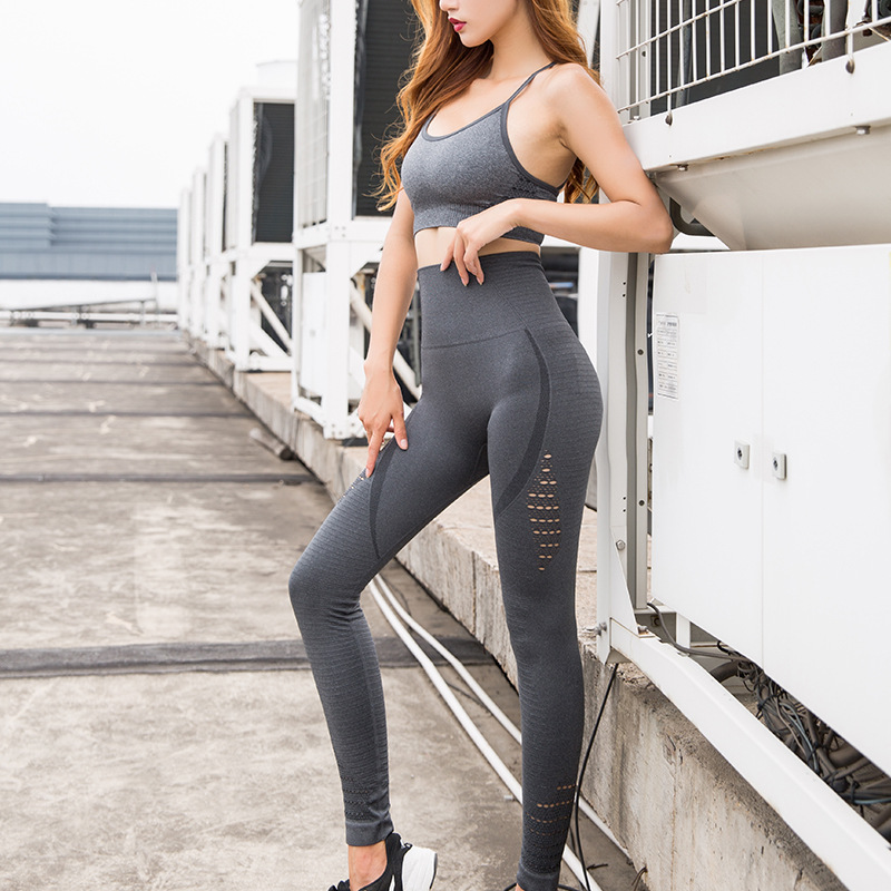 NCLAGEN Breathable Hollow Out Butt Lift Yogaings GYMs Leggings Women Nylon Workout Capris Squat Proof Athleisure Pencil Pants