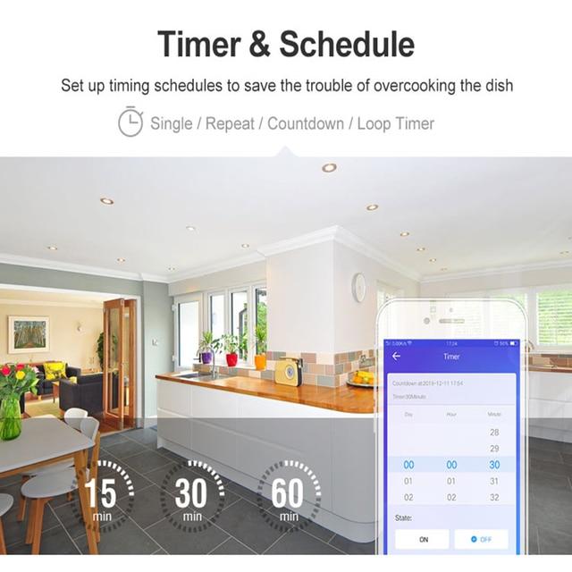 Sonoff commutateur intelligent de base Wifi sans fil intelligent maison télécommande minuterie bricolage commutateur Via Ewelink APP travailler avec Alexa Google Home