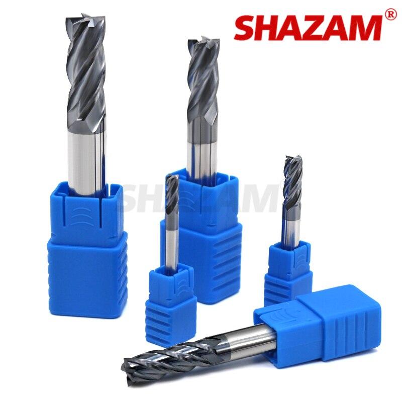 Фреза Hrc50 Endmill сплав Вольфрамовая сталь Cnc Maching SHAZAM Оптовая Продажа Топ фрезерный станок Инструменты для стального деревообработки