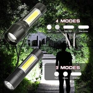Image 2 - 8000Lumens COB LED Flashlight Super Bright Waterproof Handheld Flashlights Torch Lantern Work Light for Emergency Lighting